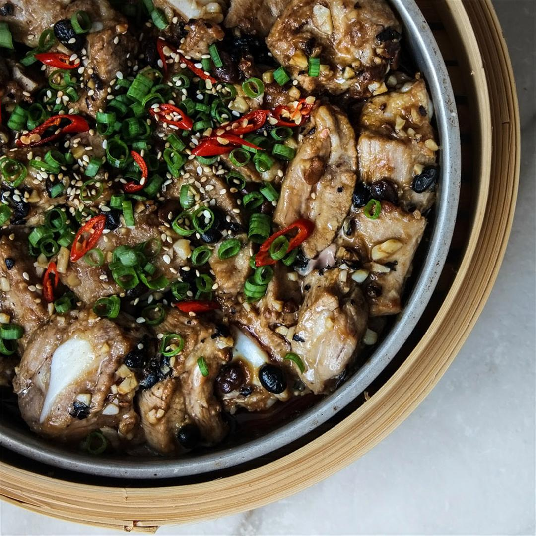 Chinese Steamed Pork Ribs with Black Bean Sauce
