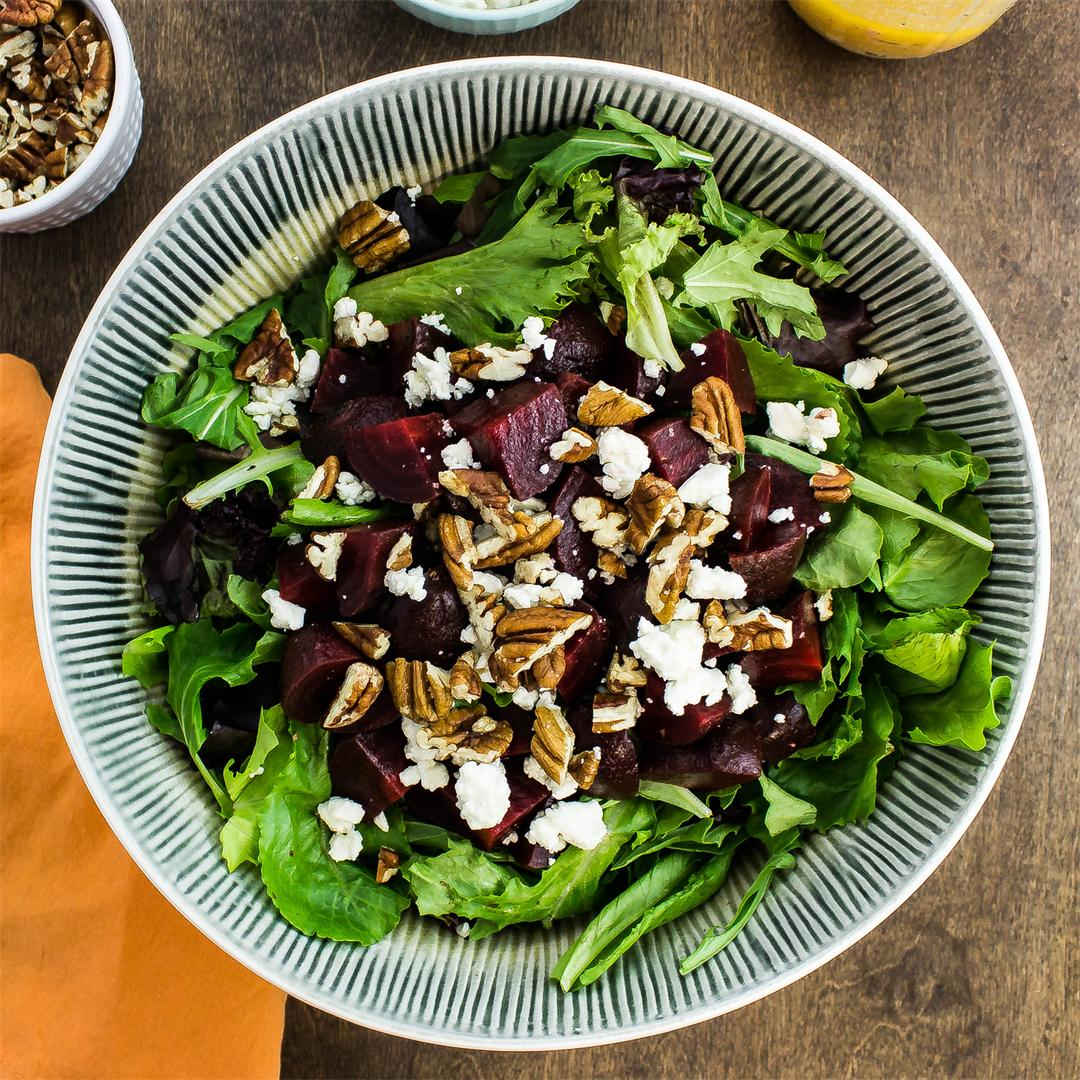 Roasted Beet & Feta Salad