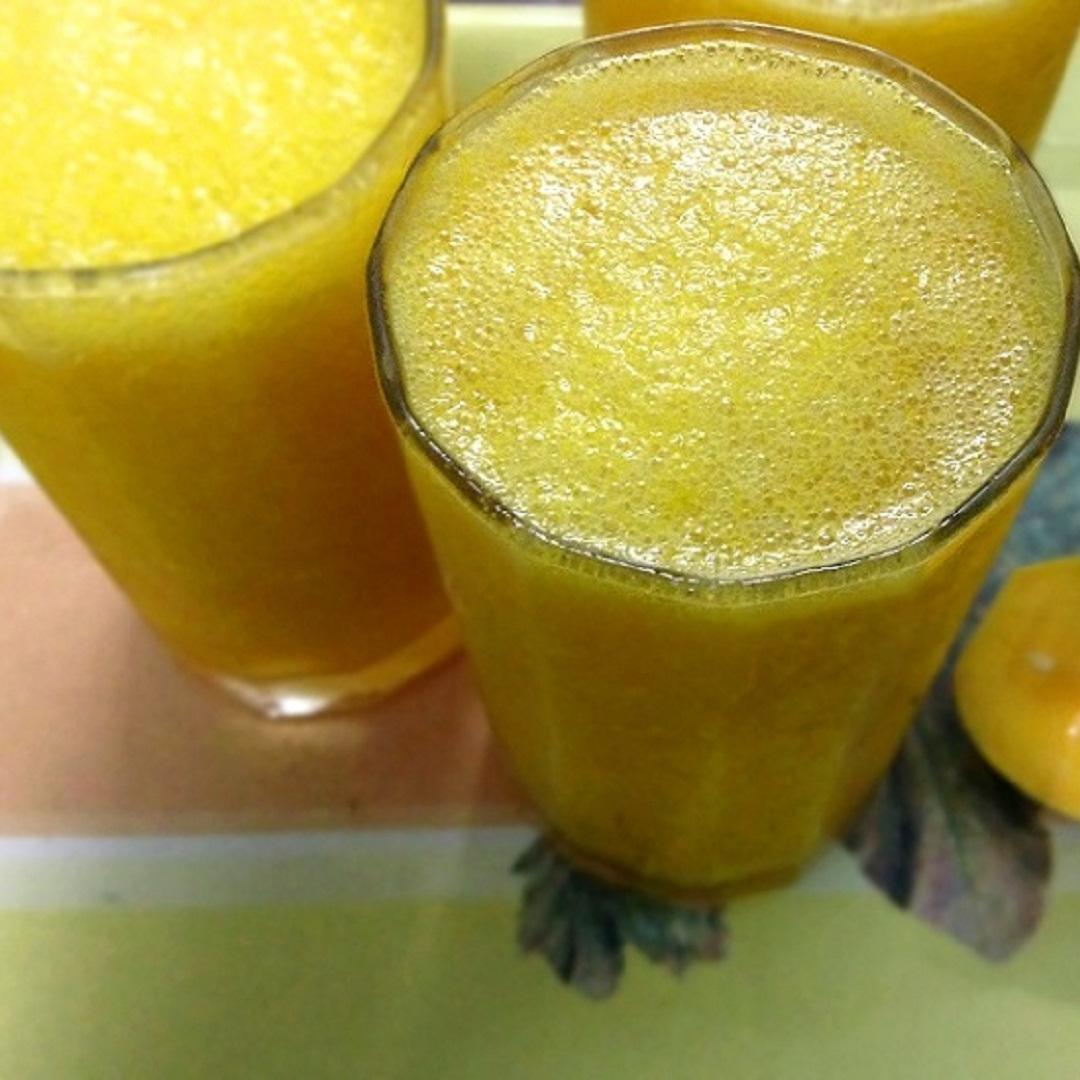 Power packed mango smoothie, favorite summer drink