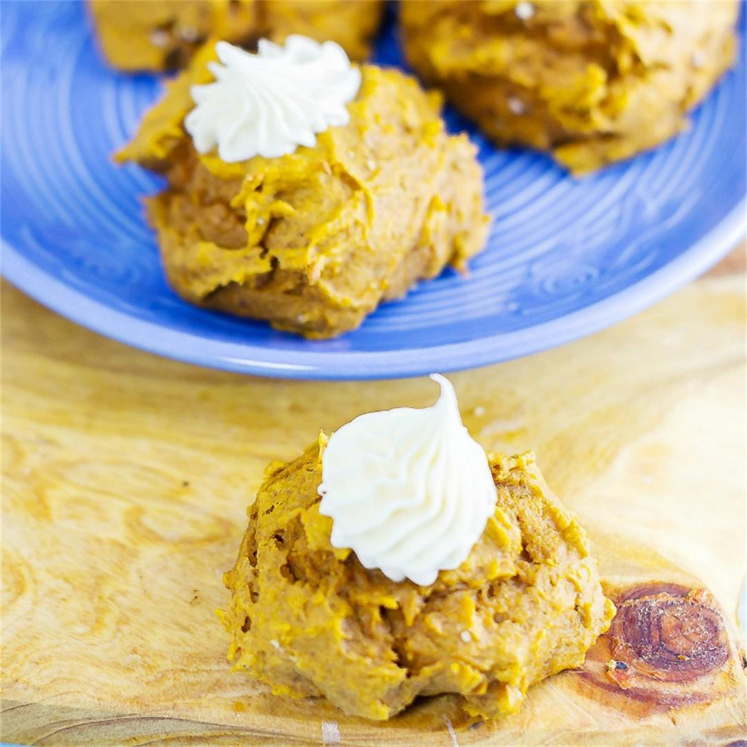 Pumpkin Spice Cookies with Vanilla Bean Frosting