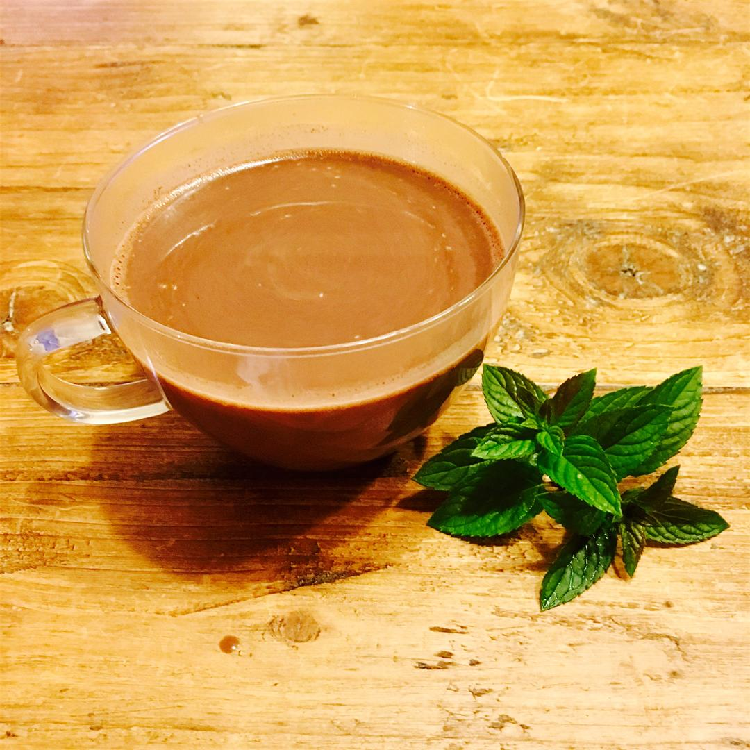 Velvety, Rich and Indulgent Mint Hot Chocolate