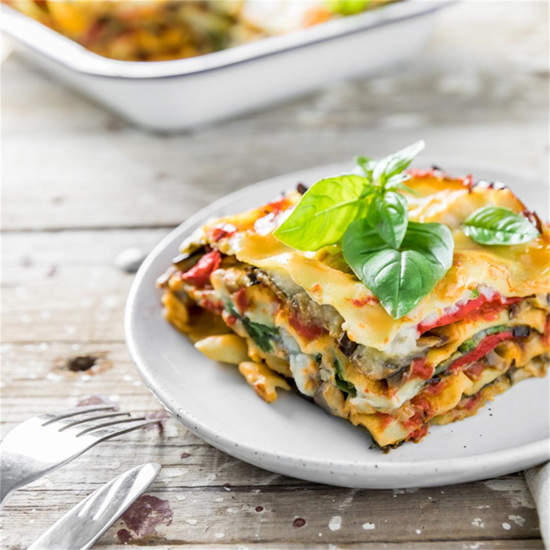 Vegan Lasagna with Cauliflower Béchamel