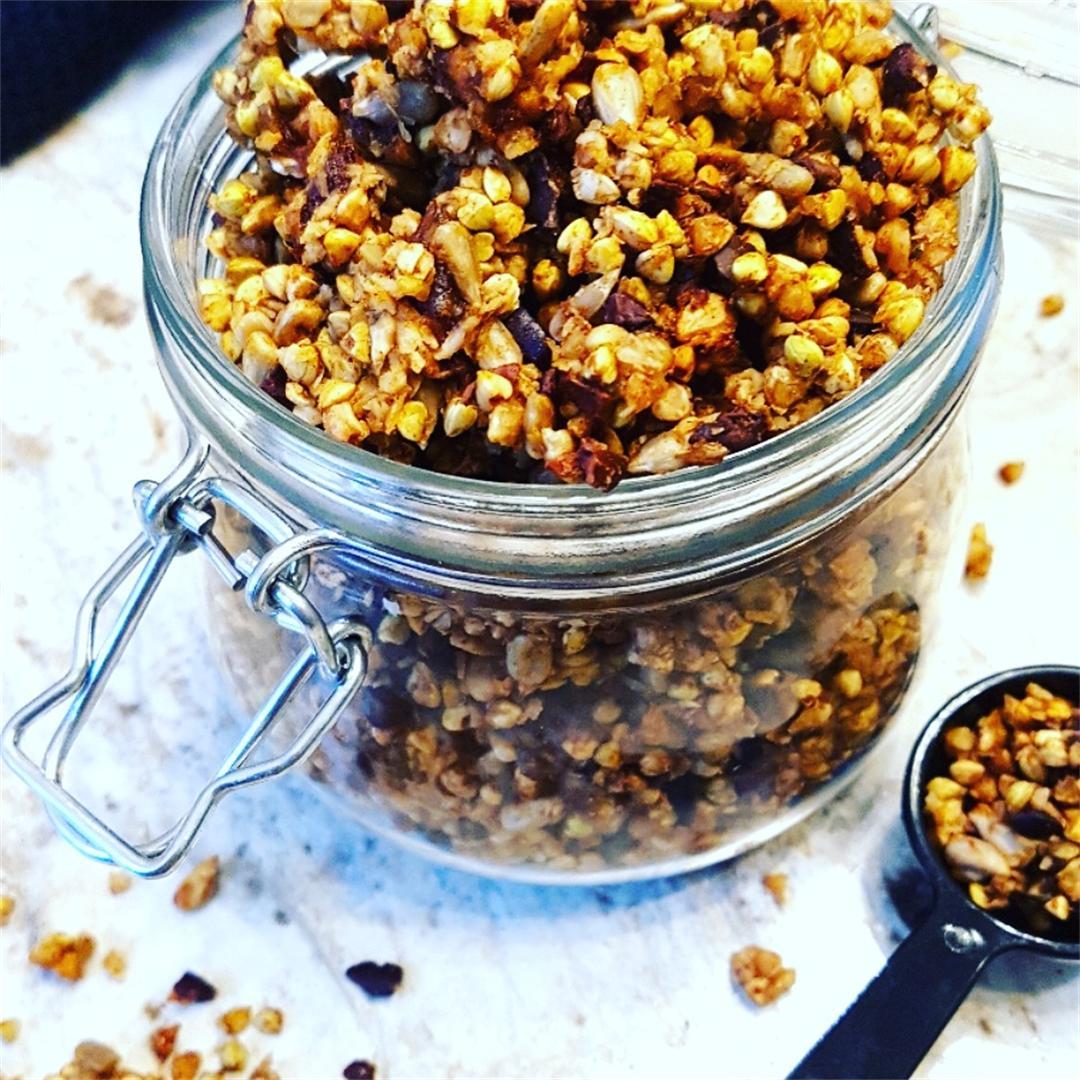 Buckwheat Cacao and Dark Cherry Granola