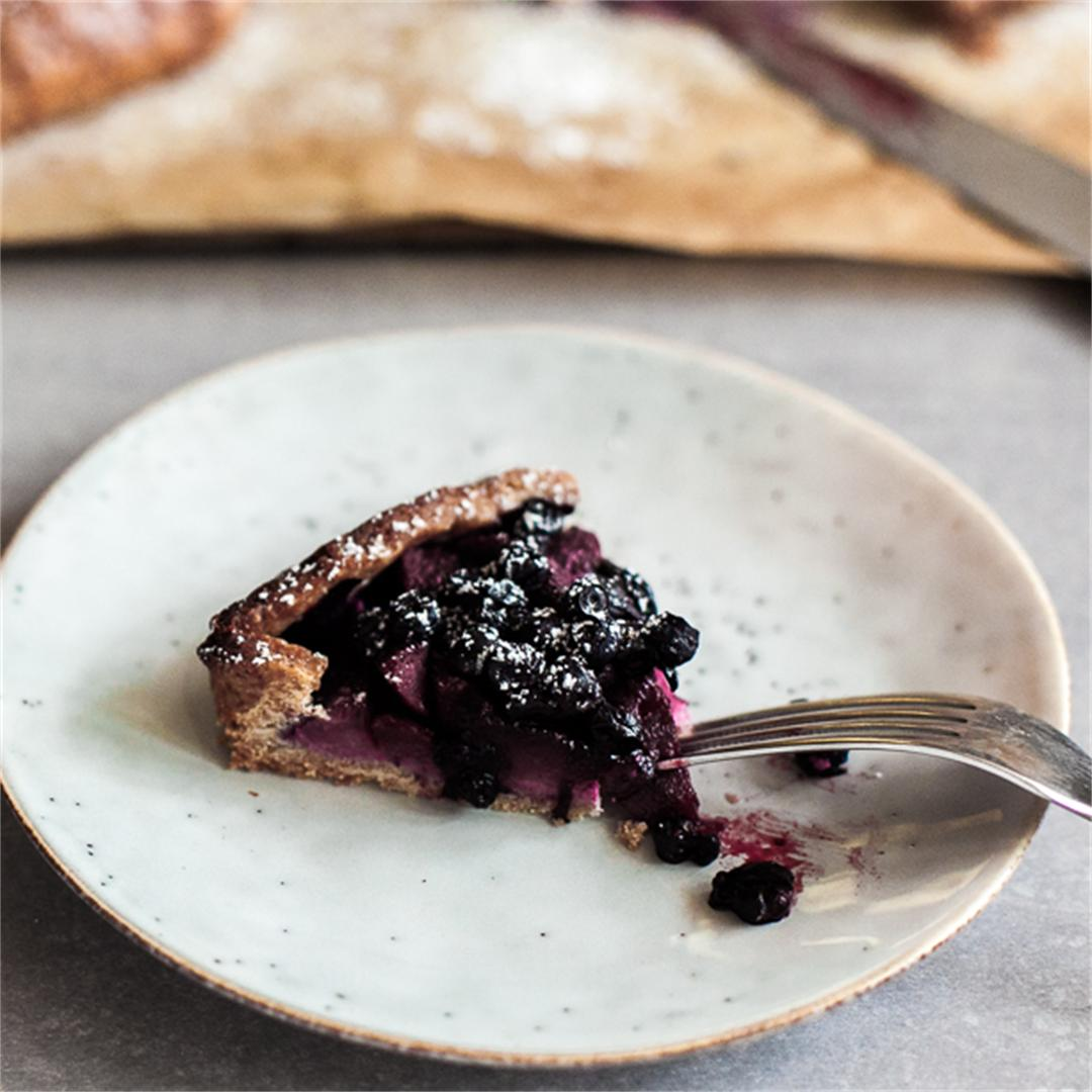 Wild Blueberry and Pear Galettes