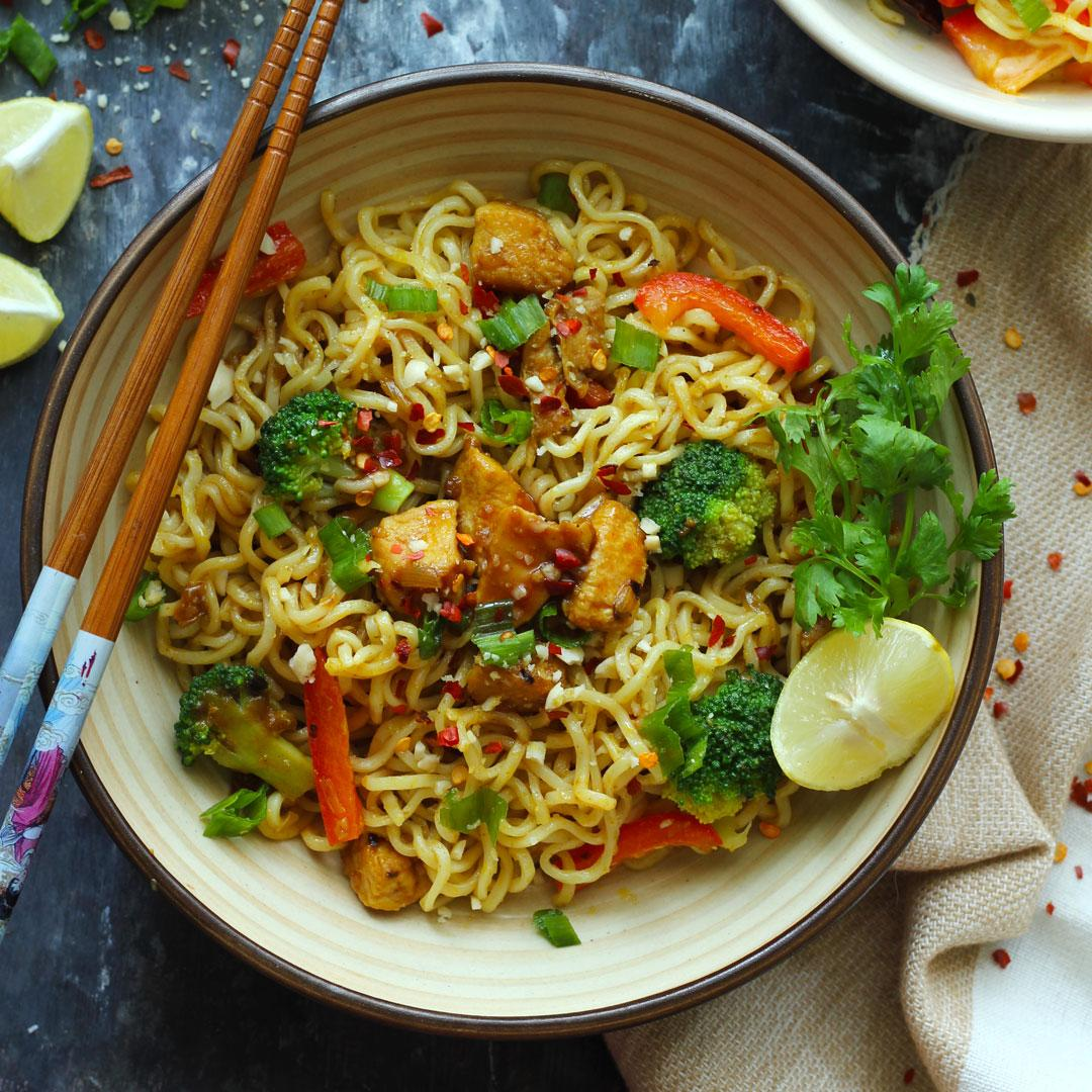 20 Minute Chicken Maggi Stir Fry