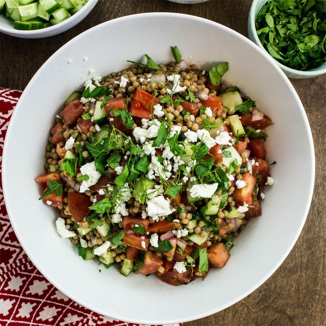 Greek Couscous Salad- Great lunch idea!