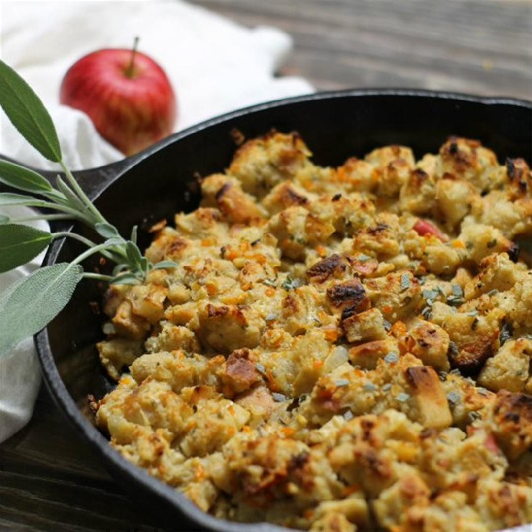 Apple and Sage Skillet Stuffing