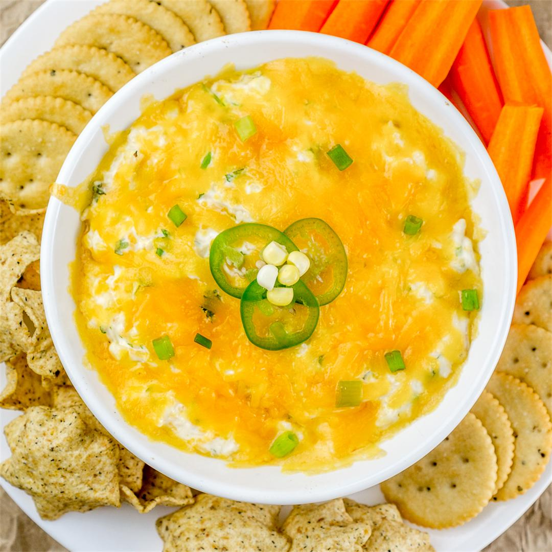 Cheesy Chicken Corn Dip - for game days and snacking!