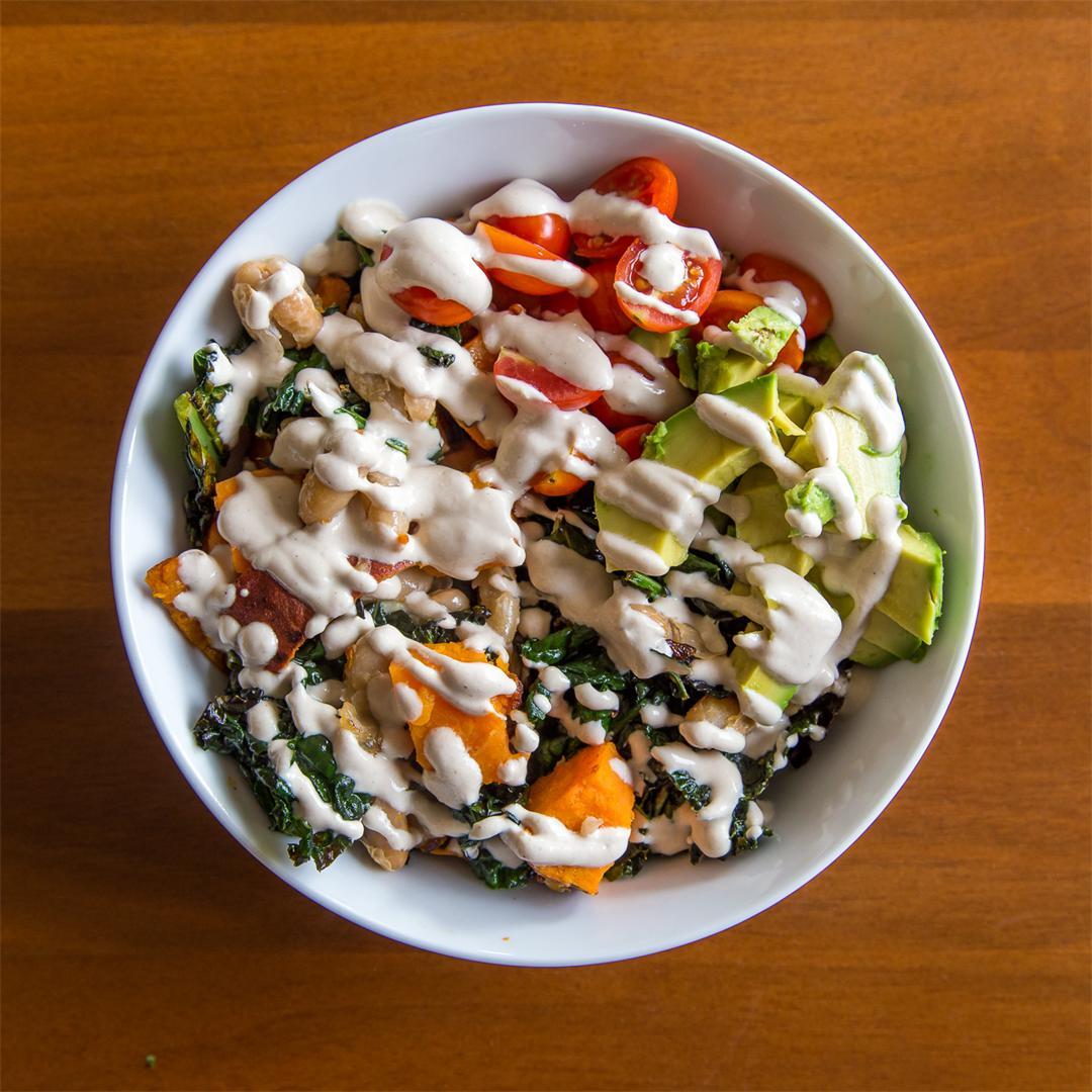 Veggie Buddha Bowls with Tahini Sauce
