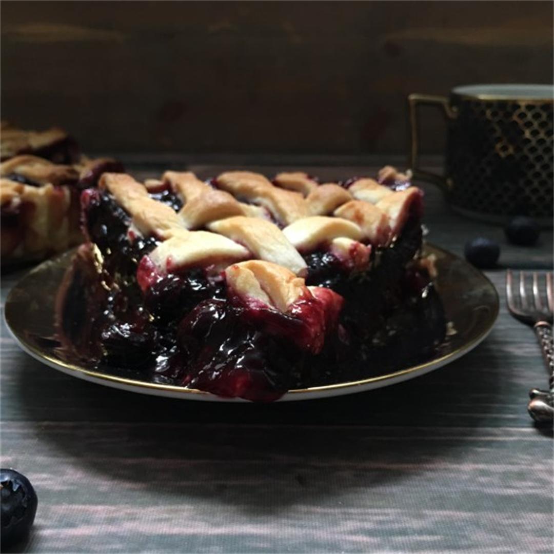 The Best Blueberry Pie… Ever! (Paleo/Vegan/Gluten-Free)