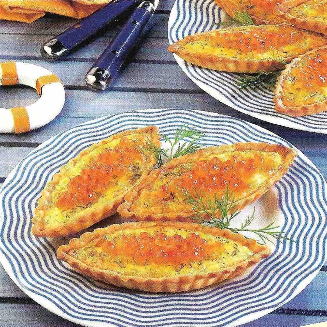 Salmon tartlets
