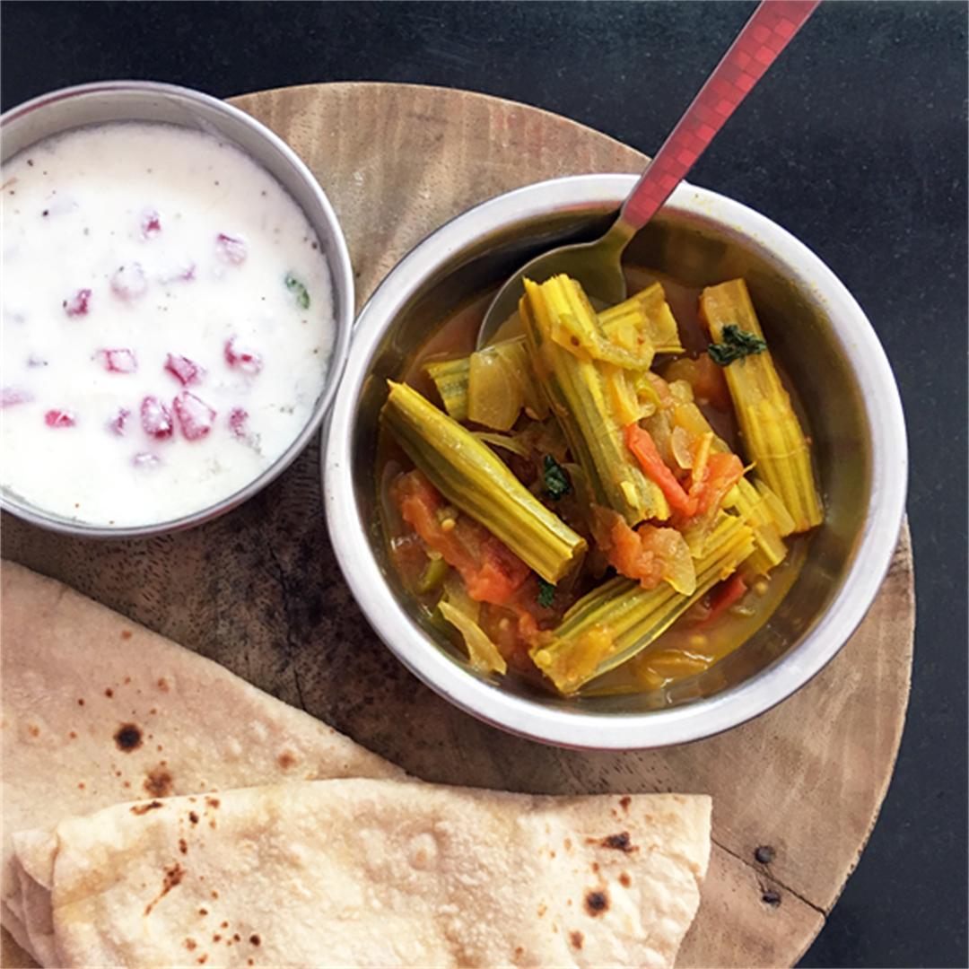 Moringa Pod Curry with Carom Seeds