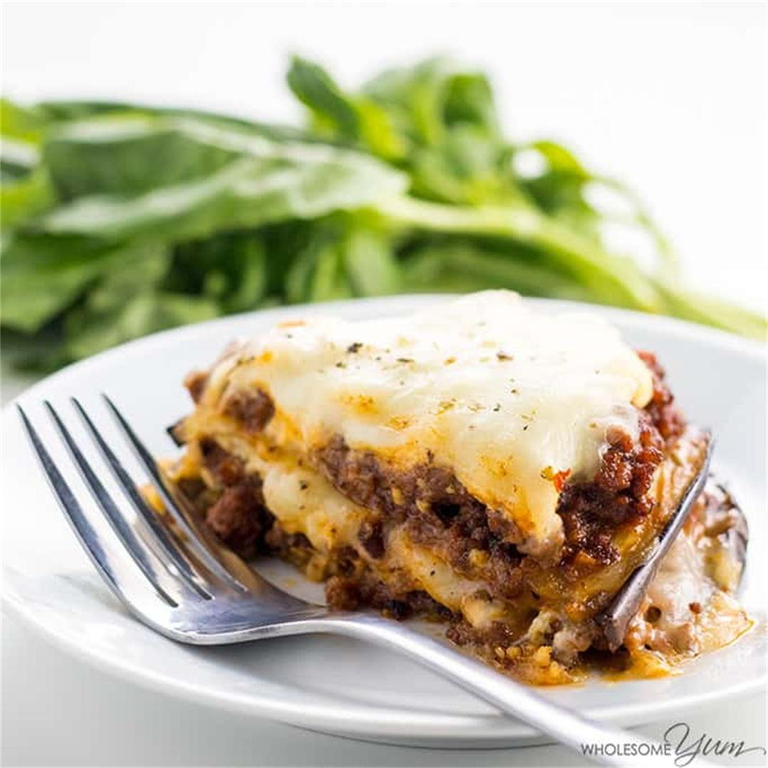 Eggplant Lasagna Recipe Without Noodles – Low Carb, Gluten-Free