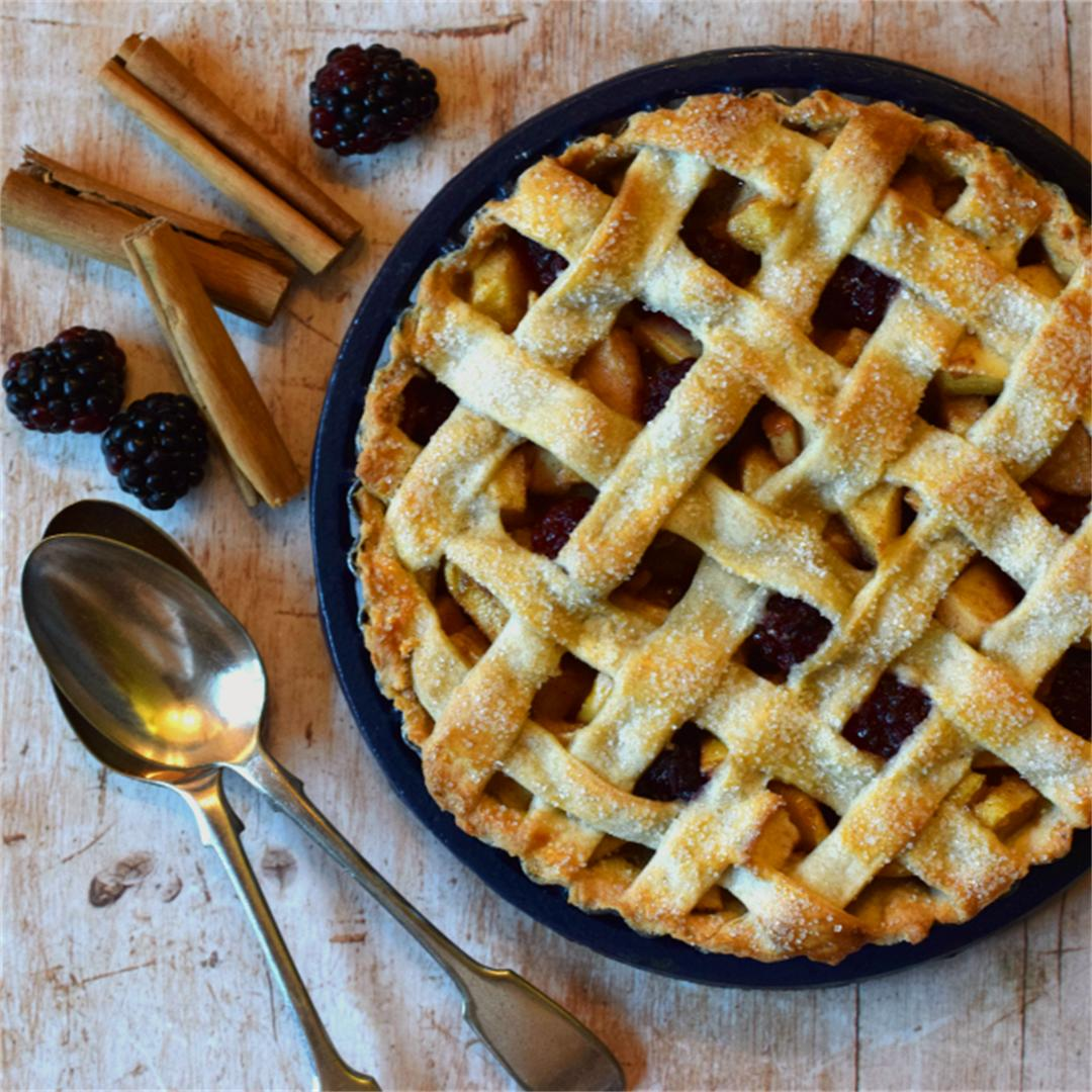 Spiced Blackberry & Pear Lattice Crust Pie