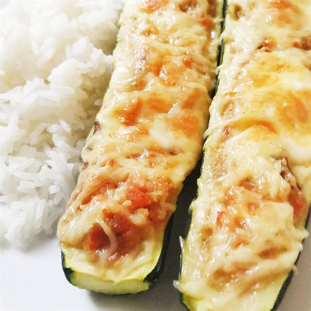 Stuffed courgette, a classic French dish