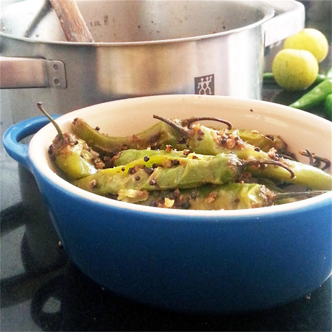 Masala Fried Green Chilli