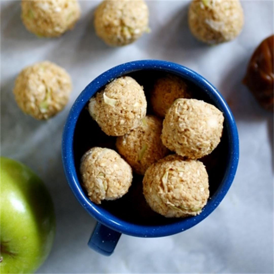 Apple-dulce de leche oat bites