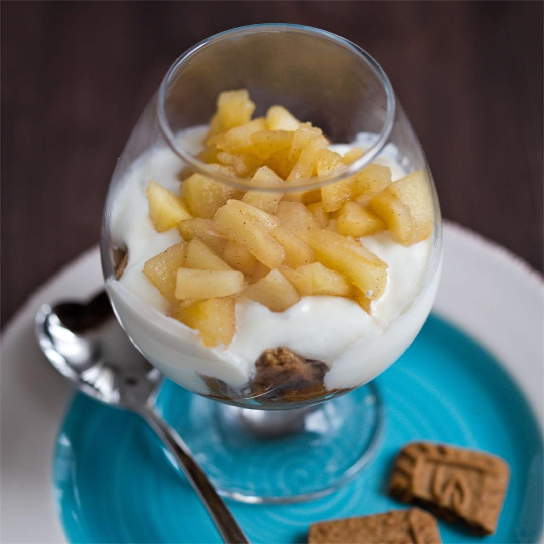 Easy Honey Apple Yogurt Dessert in a Glass