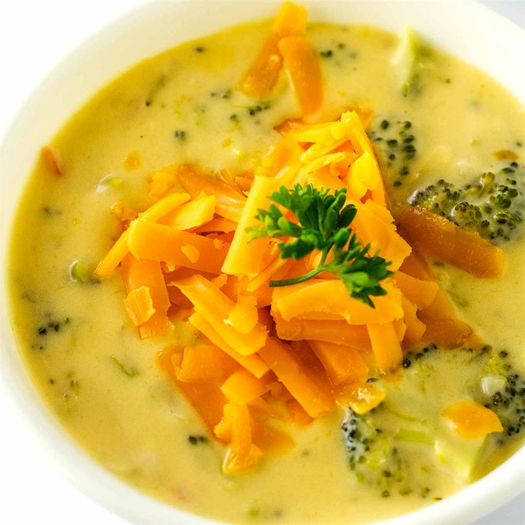20 Minute Broccoli And Cheese Soup