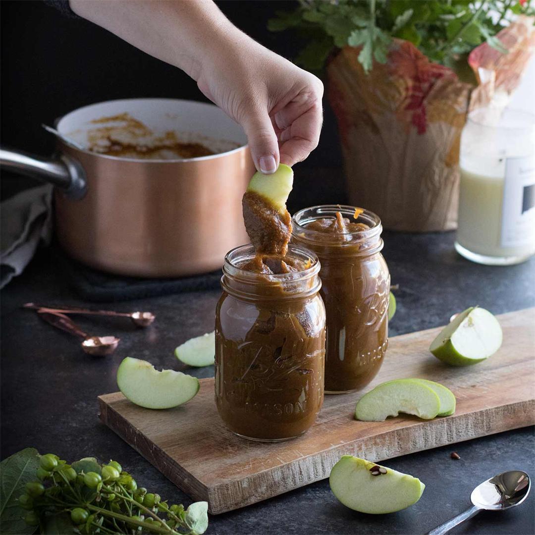 Homemade Pumpkin Butter--paleo, vegan,  & refined sugar-free!