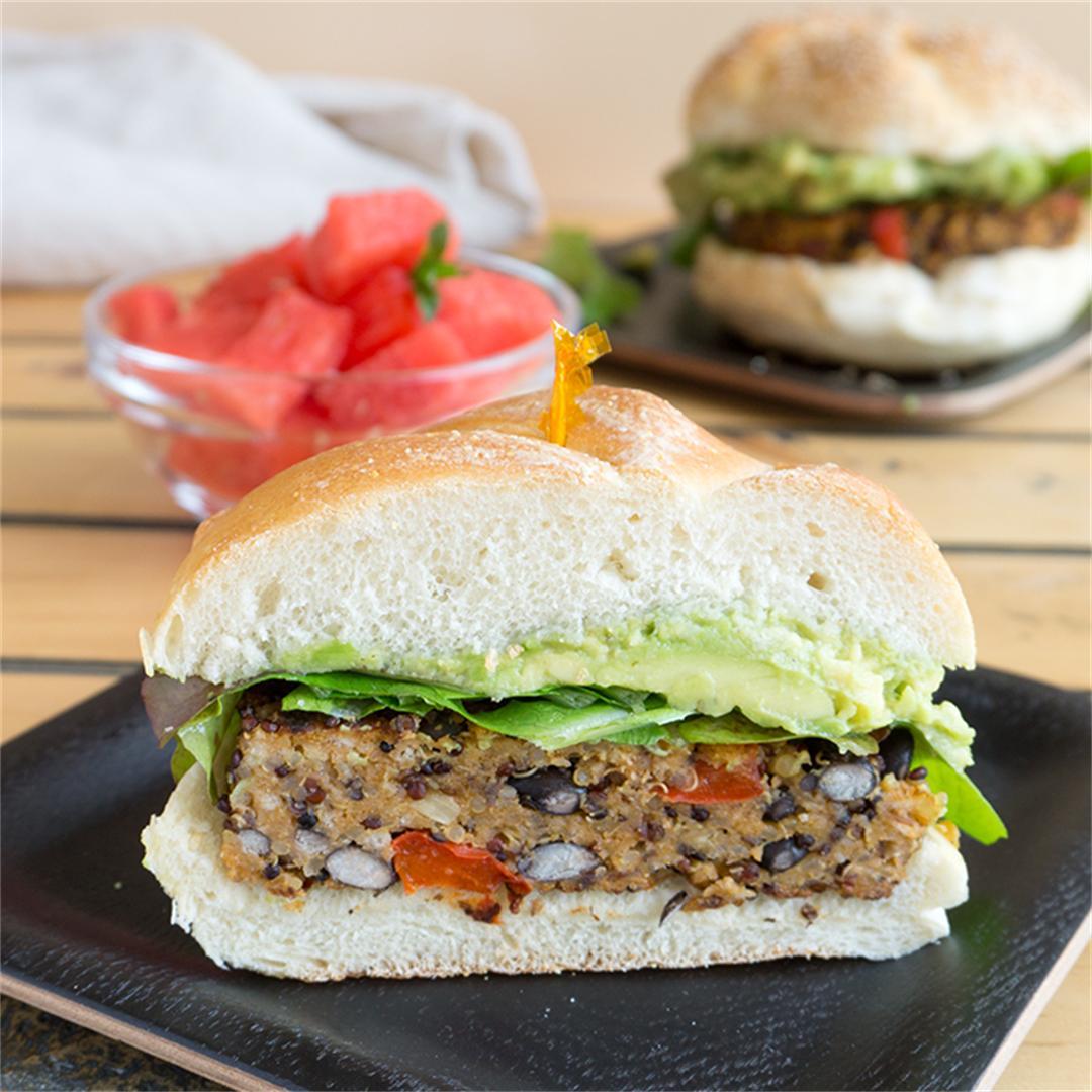 Southwest Black Bean Burgers   Vegan