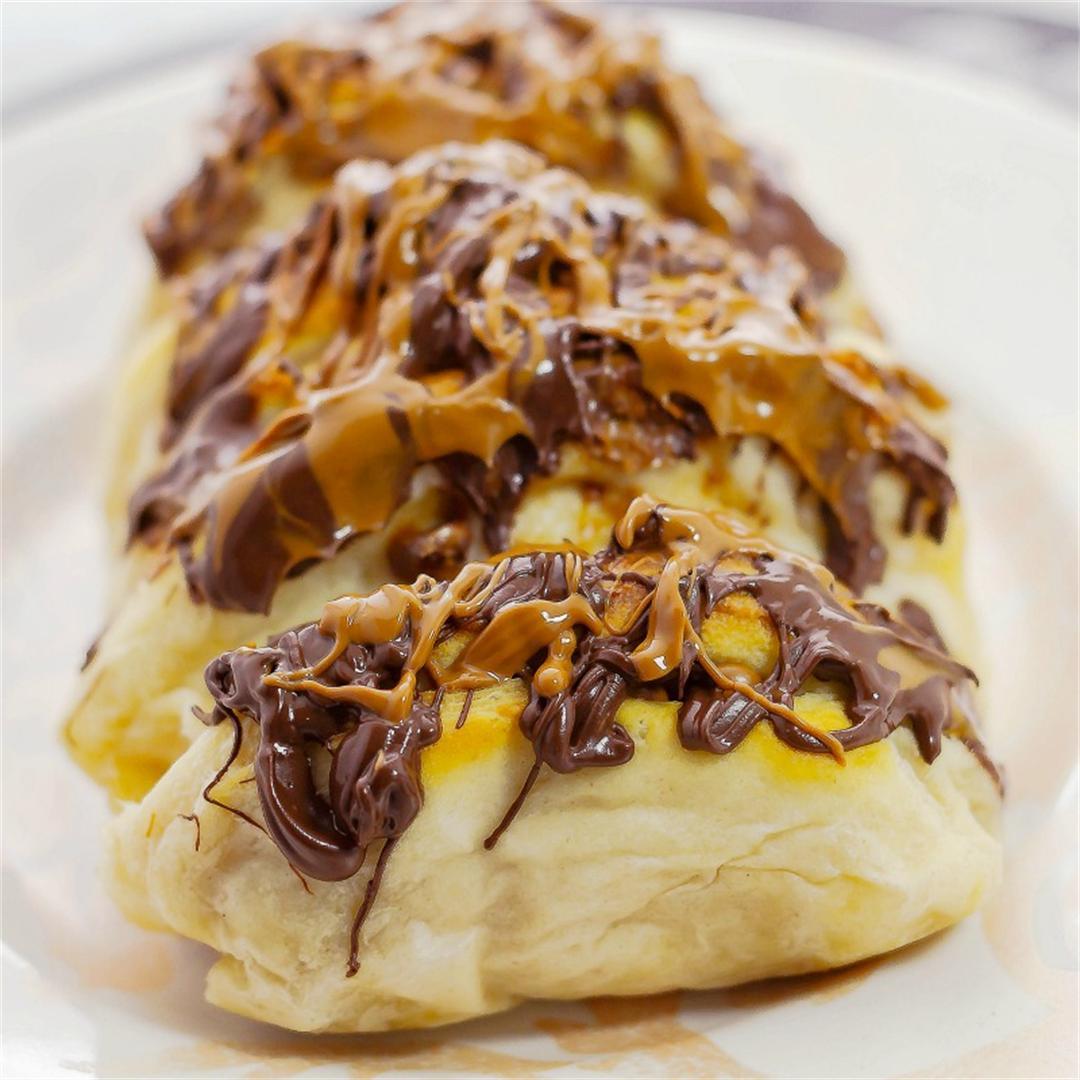 Chocolate Peanut Butter Pull Apart Bread