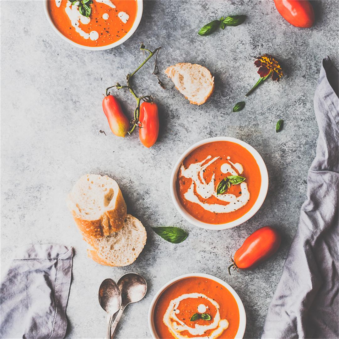 Roasted Tomato Basil Soup (GF)
