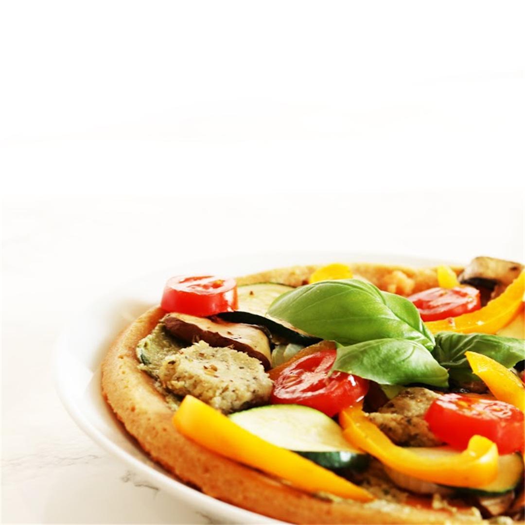 Vegan Lentil Crust Pizza