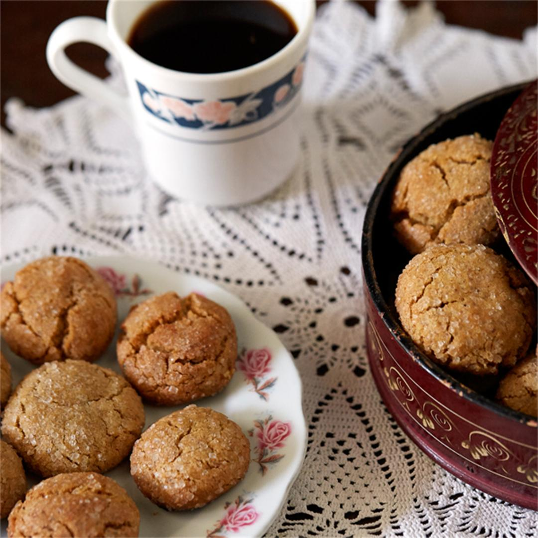 Soft Ginger Cookies with Brown Butter
