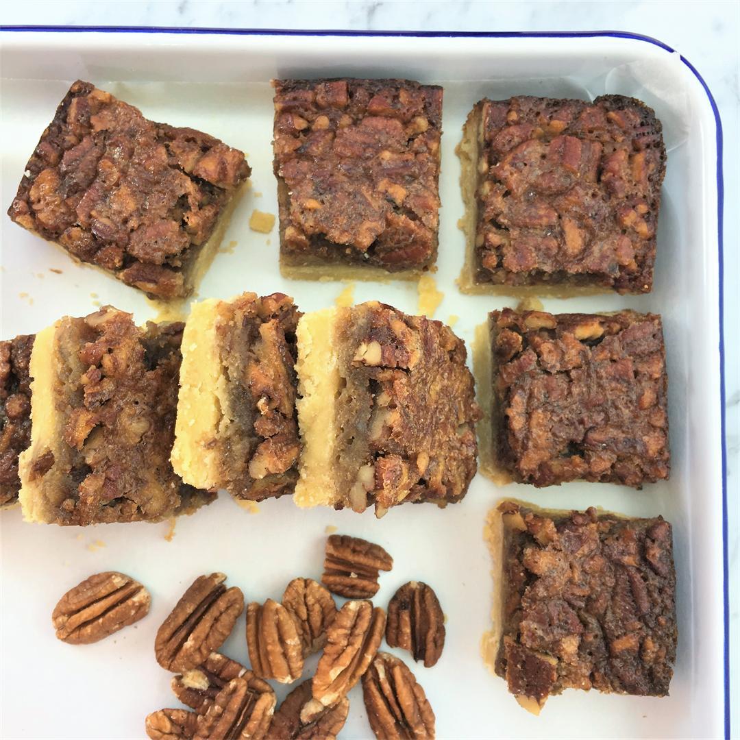Butter Pecan Slice - Melt & Mix Pecan Squares