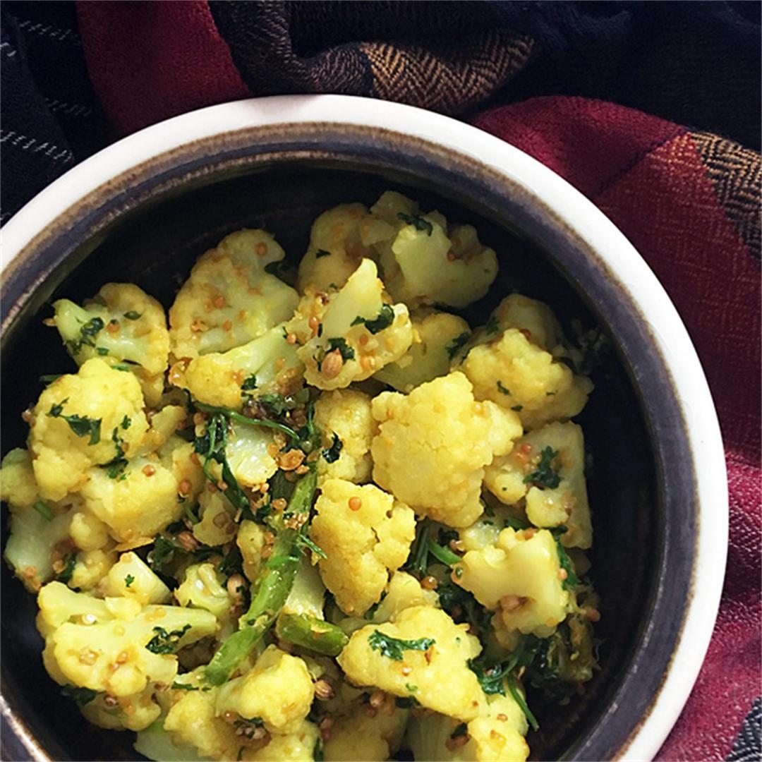 Cauliflower with Mustard and Coriander
