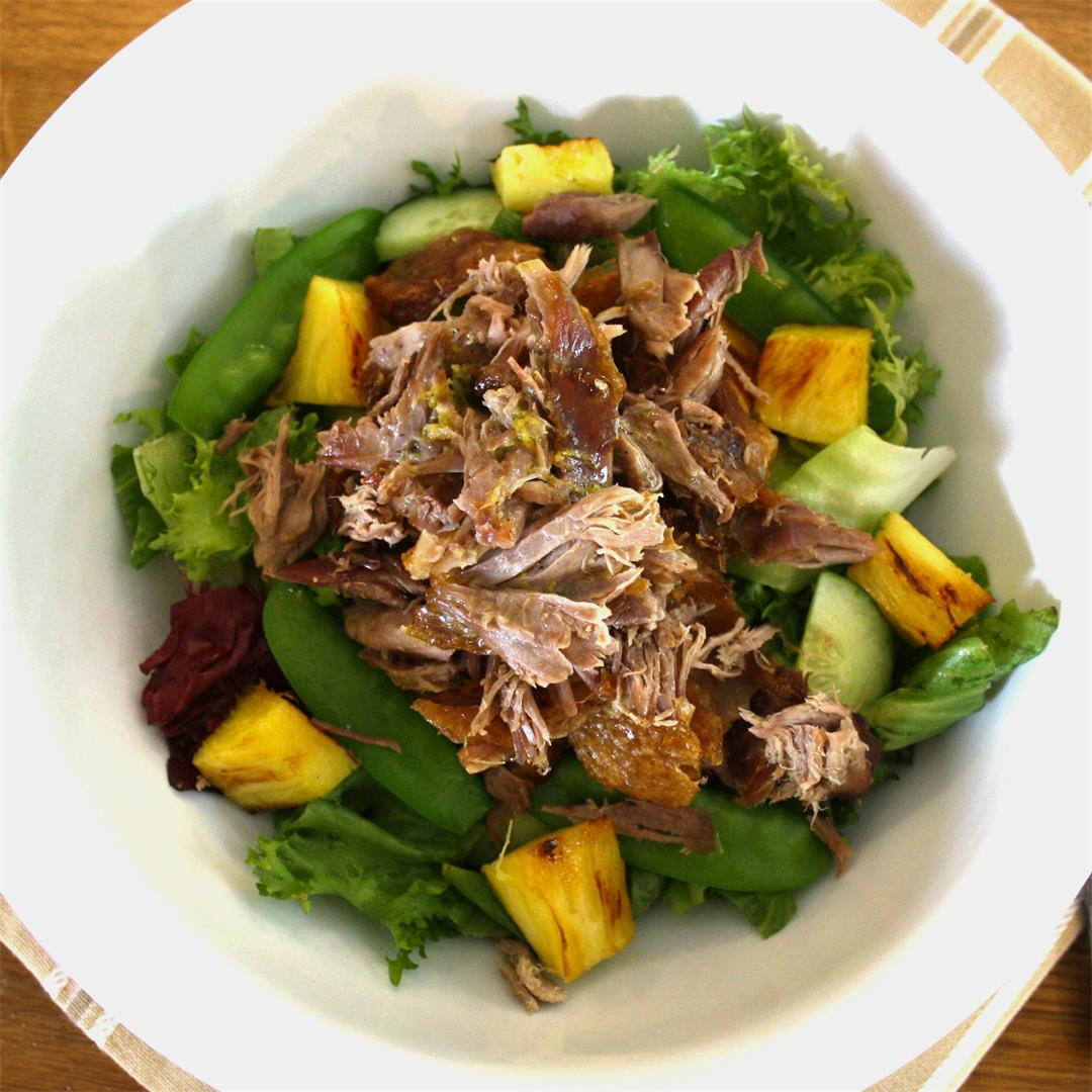 Warm Duck And Pineapple Salad