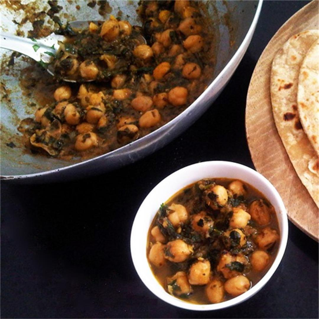 Fenugreek Chickpea Curry