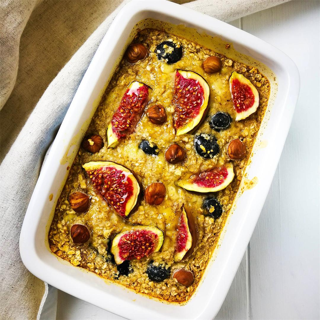 Blueberry & Fig Baked Porridge