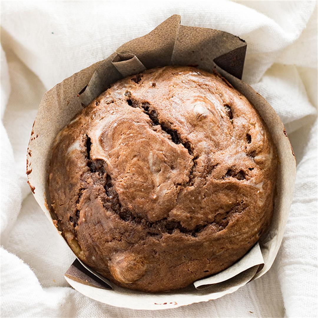 Chocolate Cheesecake Swirl Muffins