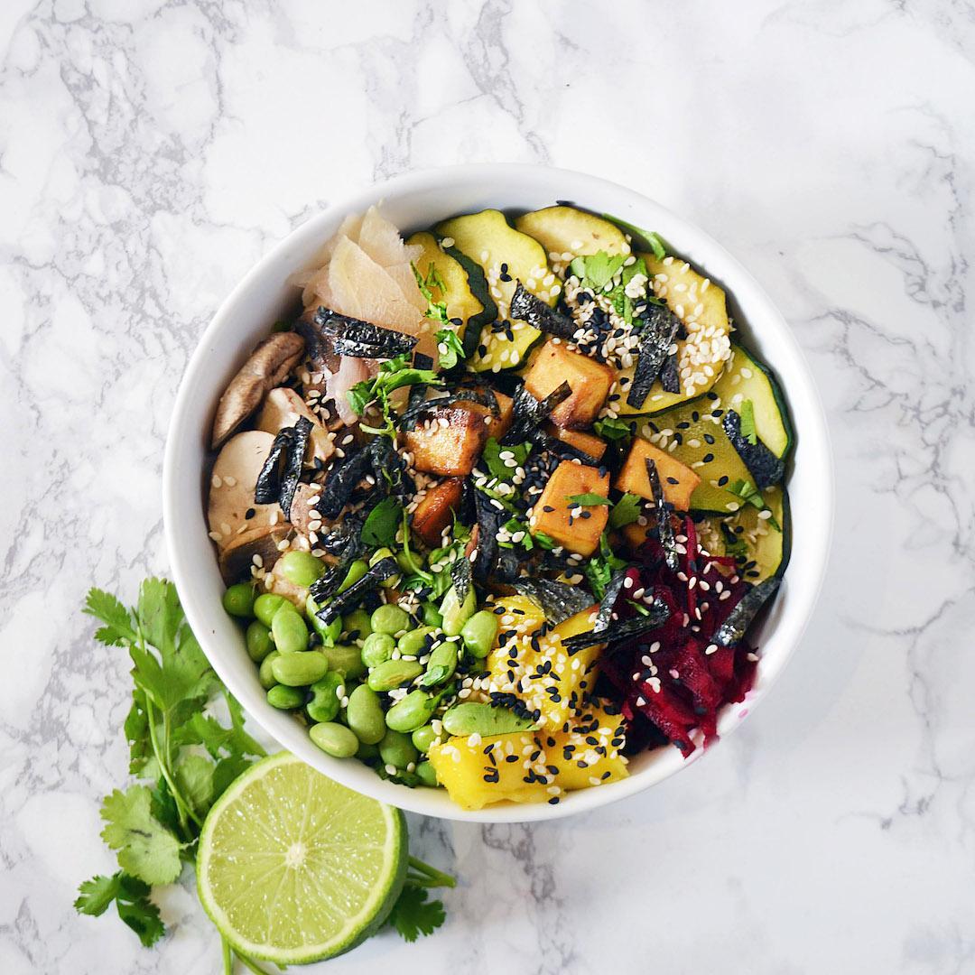 Vegan Tofu Poke Bowl