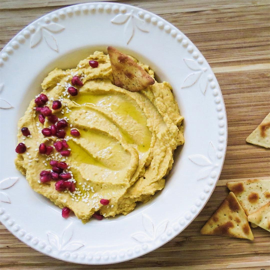 Roasted Sugar Pumpkin Hummus