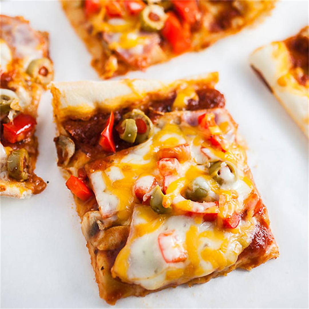 Sheet Pan Pizza with Canadian Bacon and Veggies