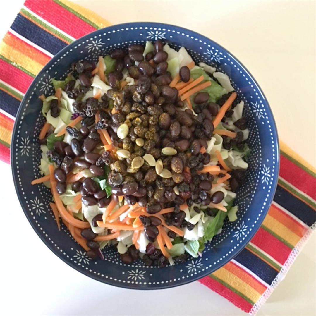 Black Bean Pumpkin Seed Quick Salad
