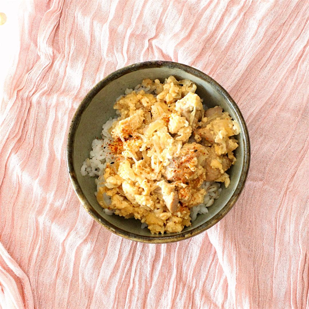 Oyako-don (Chicken and egg bowl)