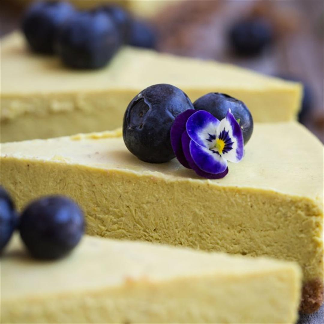 Golden Milk Cashew Cheesecake