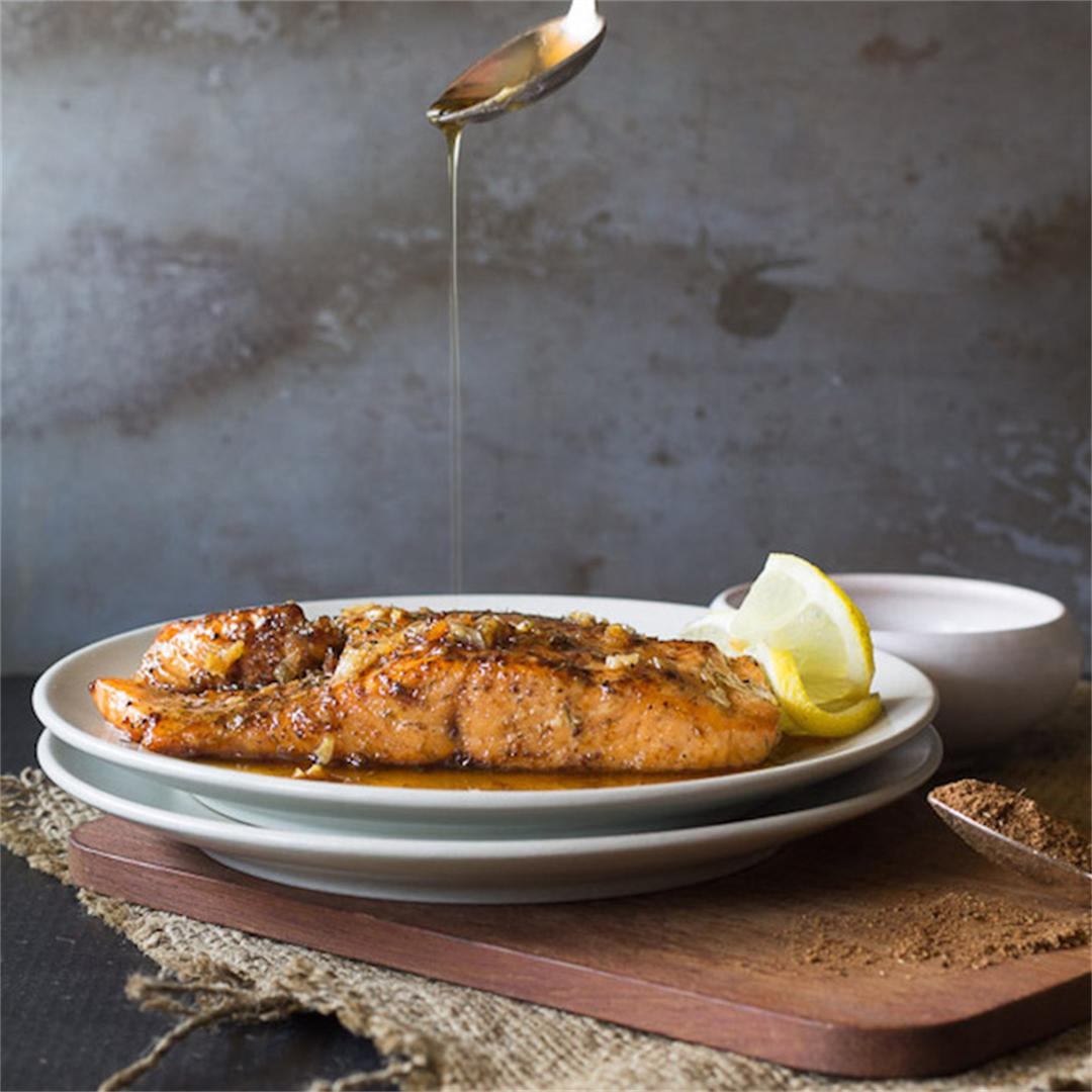 Maple Syrup Glazed Salmon with Chinese Five Spice