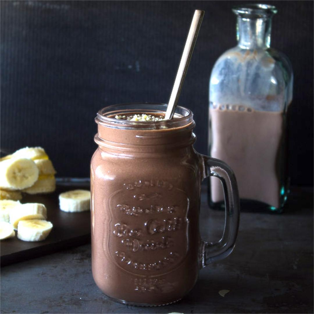 Choco-Banana Peanut Butter Smoothie