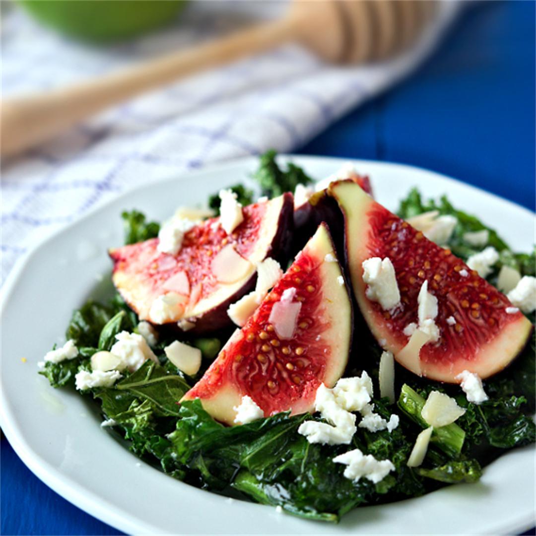 Fresh fig recipes - Fig salad - Kale salad