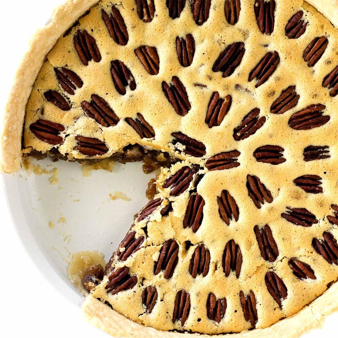 Quick And Easy Pecan Pie (Without Corn Syrup)