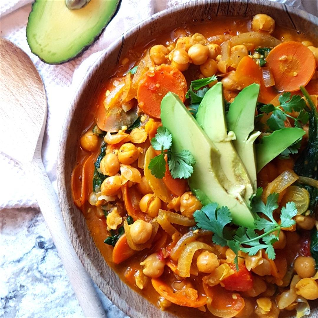 Quick Veggie Chickpea Curry