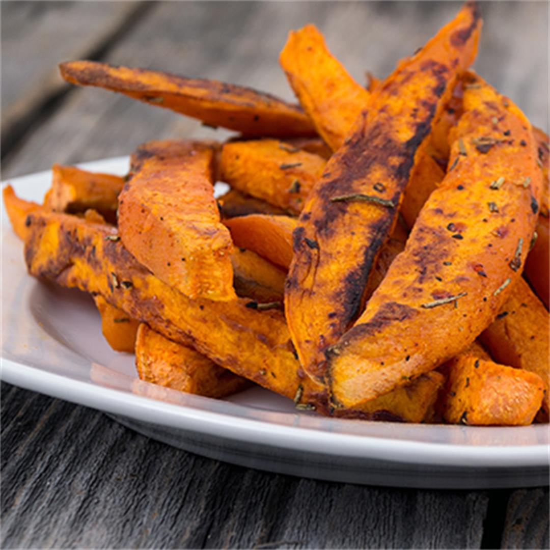 Loaded Sweet Potato Fries: Southwest Style!