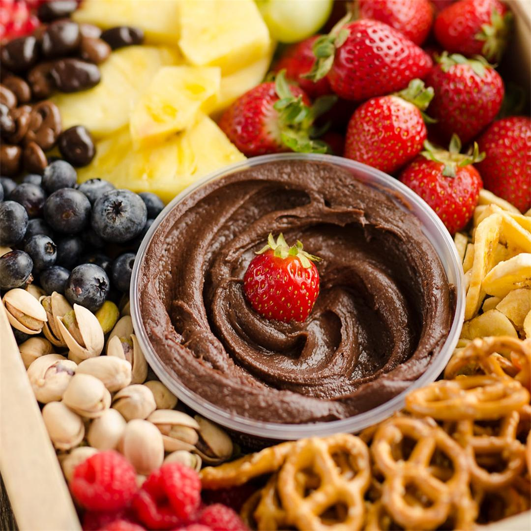 Healthy Fruit & Chocolate Party Tray