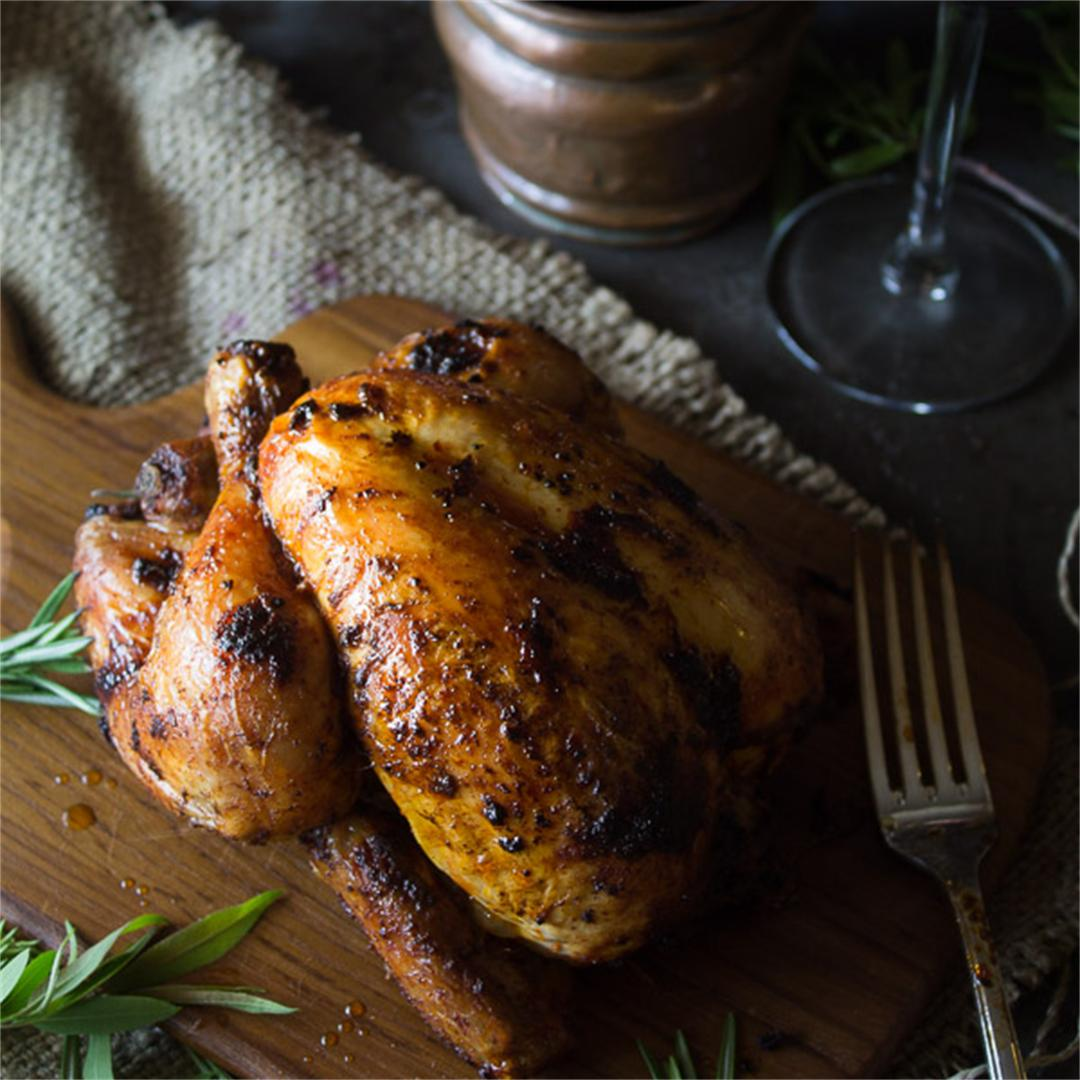 Paprika Garlic Roasted Chicken