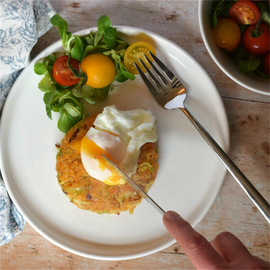 Brussel, Quinoa & Sweet Potato Cakes